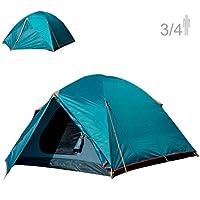 NTK Colorado GT 3 至 4 人 7 x 7 英尺戶外圓頂家庭露營帳篷 * 防水 2500 毫米,易裝,耐用面料全覆蓋雨門襟 - 微蚊網布