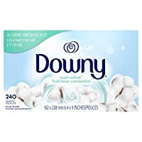 Downy 织物柔顺剂烘干机,冷棉 Dryer Sheets