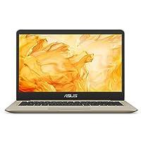 华硕 VivoBook S 轻薄型笔记本电脑,14 英寸 FHD,英特尔酷睿 i7-8550U,8GB 内存,256GB SSD,GeForce MX150,NanoEdge 显示屏,背光 Kbd,FP 传感器 - S410UN-NS74