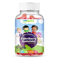 Elderberry 儿童软糖 - 维他命 C *系统助推器 - 美味三重*软糖熊与紫锥体和丙烯酸 - 妈妈制造,幼儿认证 50 Servings 50.00