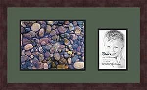 Art to Frames 双多衬垫-195-868/89-FRBW26061 拼贴框架照片垫双衬垫带 1-21.59x27.94 和 1-12.70x17.78 cm 开口和咖啡色相框