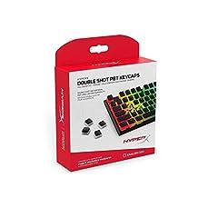 HyperX 双弹 PBT 键帽 - 104 机械键帽套装 - 黑白边 - 耐用 - HyperX 机械键盘兼容 - OEM 轮廓 - 2 年保修 (HX-KBKC3)