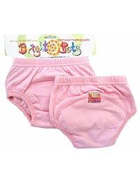 Bright Bots 马桶训练裤(双装,淡粉色,大号,24-30 个月)