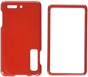 Asmyna MOTXT862HPCSO060NP Premium Durable Protective Case for Motorola Droid 3 XT862-1 Pack - Retail Packaging - Flaming Red