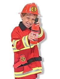 消防员:角色扮演服装套装 - 标准尺寸配送包装