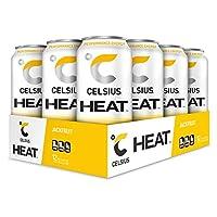 CELSIUS HEAT 樱桃石灰性能能量饮料,零糖 16 Fl Oz (Pack of 12)