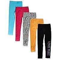 Amazon Brand - 斑馬女孩幼童和兒童打底褲 4 條裝
