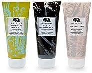 Origins Best in 面部面膜套装 – 木炭面膜清洁毛孔,饮用深层补水面膜,玫瑰粘土修复面膜(每瓶 3.4 盎司)