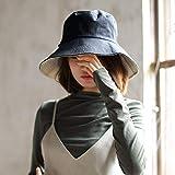 【双面渔夫帽】渔夫帽女士春夏遮阳帽双面纯色布帽可折叠太阳帽大沿帽子 (女士渔夫帽黑米)