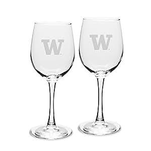 NCAA 华盛顿侯赛人队成人套装 2 件装 - 340.19 克白色*杯深蚀刻,均码,透明
