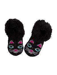 黑猫女孩拖鞋袜中号/大号