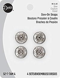 Dritz 缝纫按扣,4 号 - 镀镍黄铜 - 4 克拉
