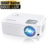WiMiUS 6000 流明投影機 Native 1080P 白色和黑色 白色
