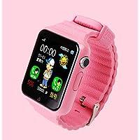 Rorsche 智能儿童手表 儿童定位可打电话手表手机 彩屏触控 防水 语音对讲无线畅聊 远程监听 基站定位 支持独立电话功能移动和联通SIM卡 1.54寸显示屏 支持32G TF卡。 V7+ (粉色)