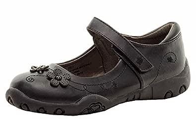 French Toast Girl's Erica Black School Uniform Mary Janes Shoes Sz: 1