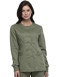 Cherokee 女士前按扣保暖夹克 橄榄色 5X-Large