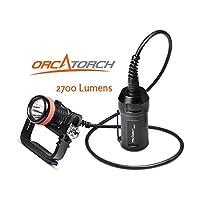 ORCATORCH D620 潜水潜水罐灯 2700流明LED可充电电池 高强度水下手电筒深水探索