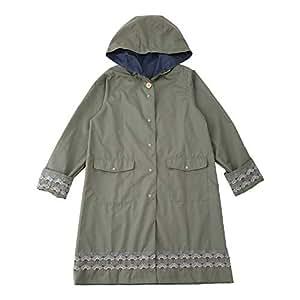 小川 Ogawa 雨衣 均码(衣长84厘米) korko 刺绣 超防水 TIPTAP 02 カーキ/ウルリクスダール城の庭園 フリーサイズ -