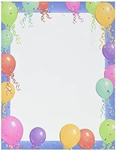 Blue Border 气球文具 1 pack of 100 sheets