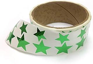 金属箔星形贴纸,各种尺寸,9.53 厘米和 2.54 厘米 - 每卷 476 个标签,卷上带有穿孔,每 10 个标签后 *