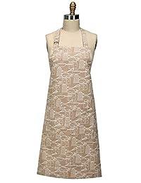 Kay Dee Designs R3581 厨师印花围裙,沙色