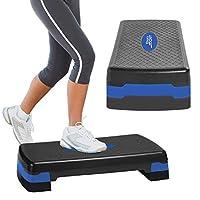 Aduro 运动有氧运动步态,可调节健身踏板锻炼台,带立架