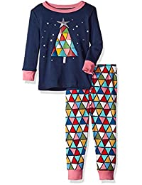 Gymboree 女婴 2 件紧身袖长裤睡衣套装