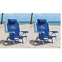 Tommy Bahama 2 件装背包沙滩椅蓝色带鱼标志