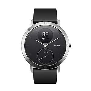 Nokia 诺基亚 Steel HR 智能手表 金属表面 智能心率追踪 50米防水 来电短信提醒 睡眠监测 黑色 40mm