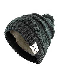 Fear0 极限温暖毛绒羊毛绝缘白色黑色针织毛线绒球头帽冬季无檐小便帽女士女孩