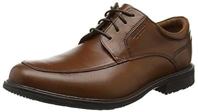 Rockport Essential Detail Ii 男式方头牛津鞋 棕色(褐色仿古皮革) 8 UK