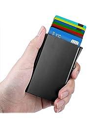 Maxgear 不锈钢 RFID 信用卡支架适用于女式或男式 RFID 信用卡钱包保护膜 RFID 金属信用卡保护套适用于手持信用卡 ID 卡