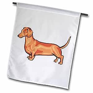 blonde Designs 可爱又逗人喜爱–可爱的狗狗腊肠犬–旗帜 12 x 18 inch Garden Flag