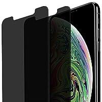 [2 件装] iPhone Xs Max 隐私屏幕保护膜,AWOGER 防泼溅、防刮、保护套友好的钢化玻璃屏幕保护膜,适用于 Apple iPhone Xs Max 6.5 英寸 2018 年发布版 黑色