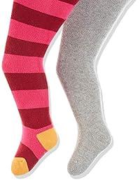 Playshoes Baby Thermo-strumpfhosen Block-ringel 冬季保暖紧身裤(2 个装)