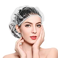 Exptolii 一次性淋浴帽,弹性淋浴*浴帽厚实防水,适合旅行水疗、美发沙龙、酒店和家用