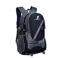 趣步 新款户外男女大容量登山包双肩背徒步包牛津布防雨旅行出游包C92202