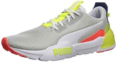 PUMA 男士 Cell Phase 运动鞋 Puma White-galaxy Blue-yellow Alert 10