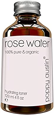 Pure Rose Water Facial Toner by Poppy Austin - Vegan, Cruelty-Free, Organic, Hand Made & Responsibly Sourced Skin Toner - Fi