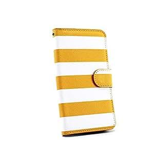 whitenuts 保护壳 手册式 横条纹WN-OD225705 2_ Xperia acro IS11S 黄色