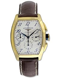 Longines Evidenza Automatic Chronograph 18k Gold Mens Strap Watch L2.643.6.73.2