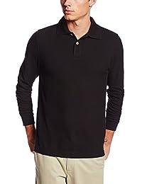 Lee Uniforms 男士时尚修身长袖Polo马球衫