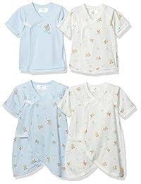 Disney 迪士尼 婴儿米奇 新生儿 内衣 4件装 男孩 迪士尼 新生儿内衣小物品 蓝色 日本 均码 (FREE サイズ)