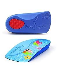 Footlogics 趣味儿童*鞋内底带足弓支撑儿童脚跟*(严重*),成长*,平脚 - 儿童,一对 Kids 1-3