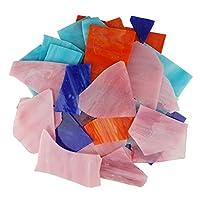 玻璃马赛克拼块,不规则形状明亮彩色玻璃瓷砖,玻璃马赛克拼块用于工艺品、盘子、相框、花盆、手工珠宝、装饰,35盎司超值装 粉红色 DJY2020523121926