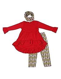 Yawoo Haan 婴儿服装 儿童精品女孩秋季服装套装 儿童套装 带围巾