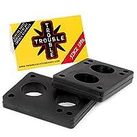 Trouble Riser Pads 滑板长板 3 6 12 毫米(1/8 1/4 1/2 英寸)2 件套