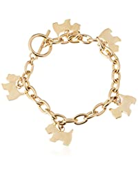Agatha Paris 法国品牌 女士 可爱双色小狗手链时尚潮流饰品 金色