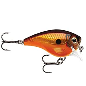 Rapala Balsa Xtreme Brat 硬饵鱼,淡水,尺码 06,5.08 厘米长,15.24 厘米深,0.95 千克,泰米色,1 件装