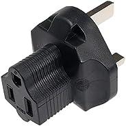 SF 电缆,3 针插头适配器。 美国 NEMA 5-15R 熔融插座 英国 BS1363 3 插插头 YL-6015/YL-6115